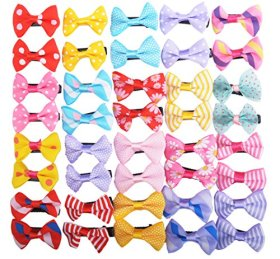 BINGPET 50pcs/25pairs Dog Hair Bows Small Bowknot Pet Grooming Products Dogs Hair Clips Accessories Mix Colors