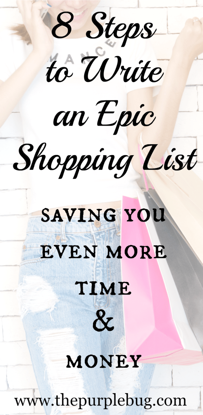 8 Steps to Write an Epic Shopping List