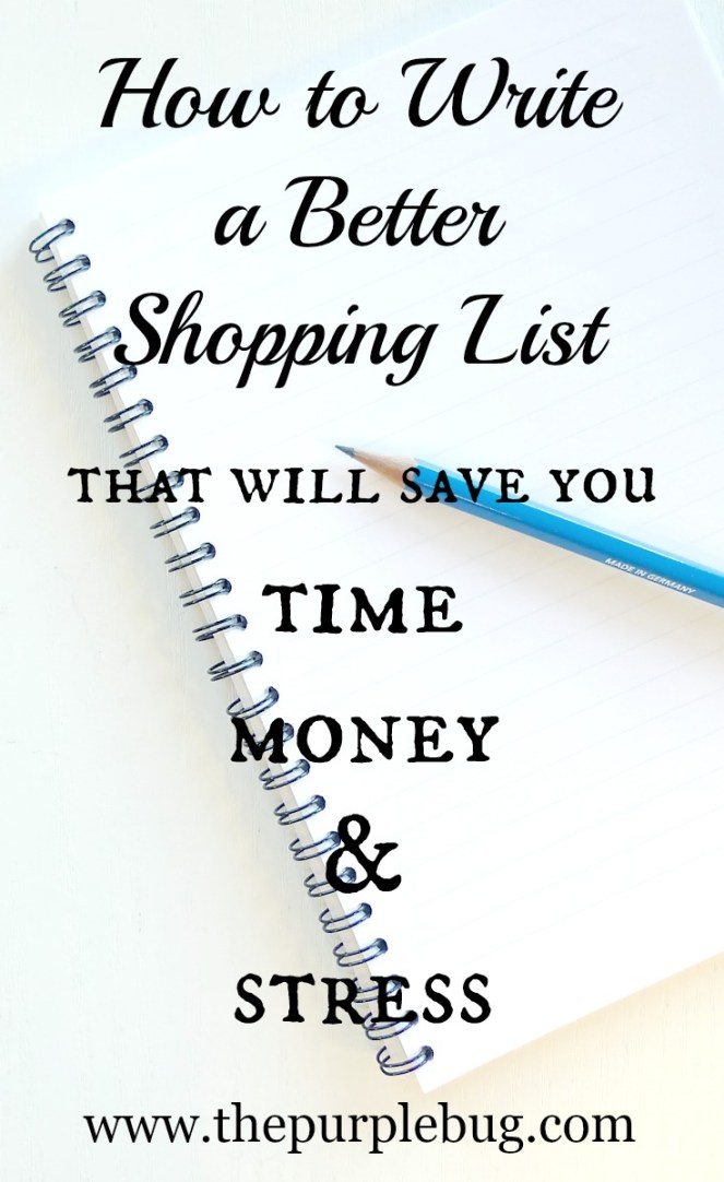 How to write a better shopping list that will save you time, money, and stress