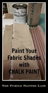 Painting Fabric Accordion Blinds With Chalk Paint 174 The