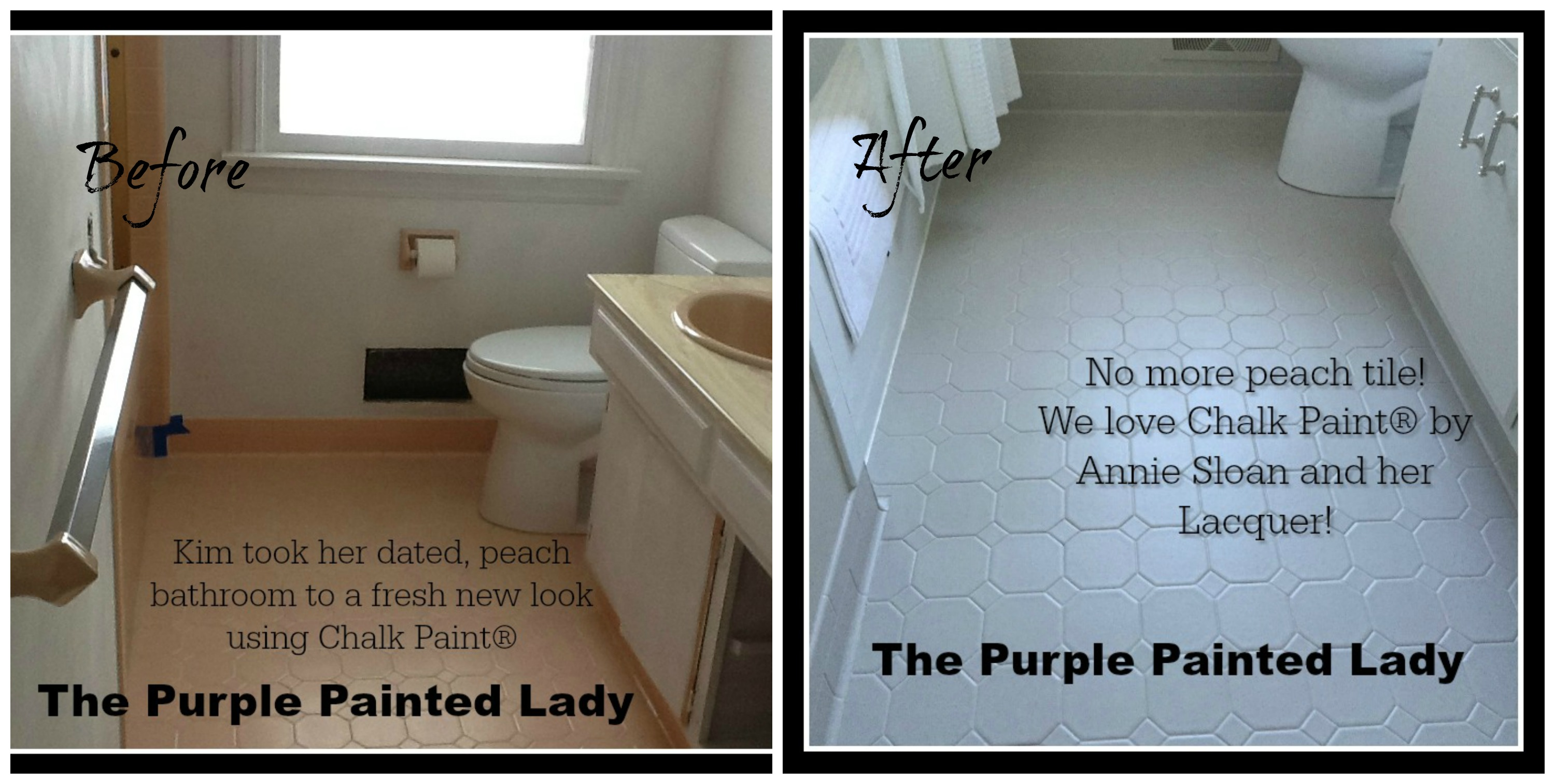 painting tile in the bathroom with chalk paint� | the purple