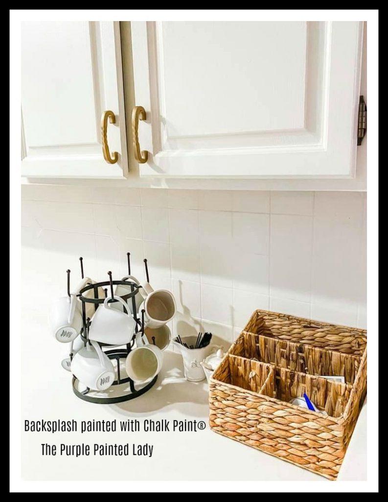 painting your stone or tile backsplash