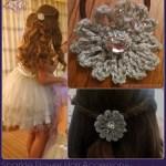 Sparkle Flower Hair Accessory A Free Crochet Pattern