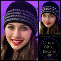 Classic Winter Beanie - Free Crochet Pattern