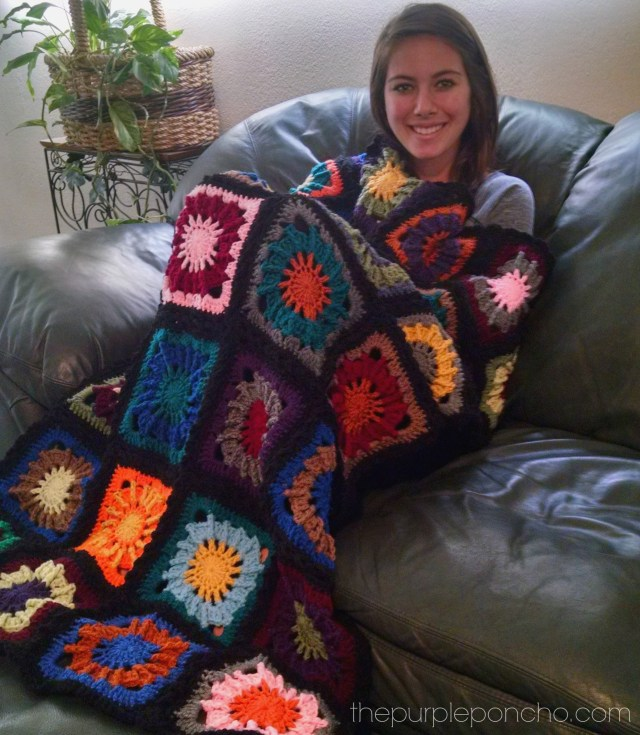 Mood Blanket Finished by The Purple Poncho