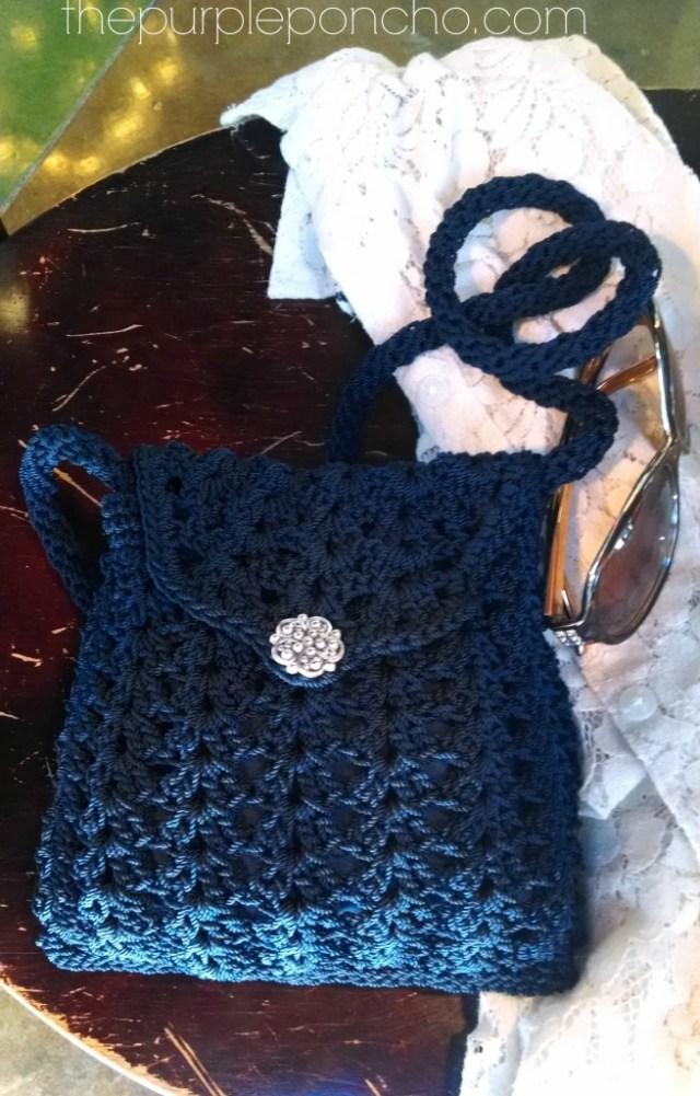 Crochet Crossbody Bags Purses The Purple Poncho