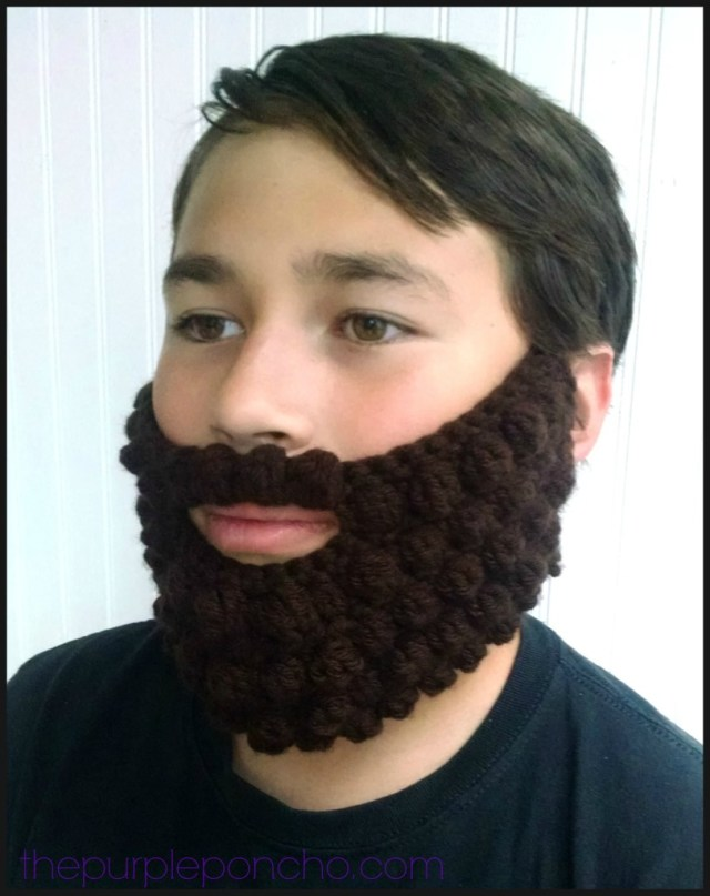 Crochet Bobble Beard Review Free Pattern The Purple Poncho