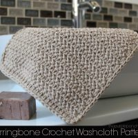 Herringbone Crochet Washcloth Pattern