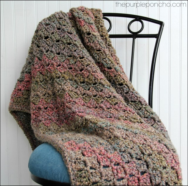 Crochet Blanket Corner-to-Corner by The Purple Poncho