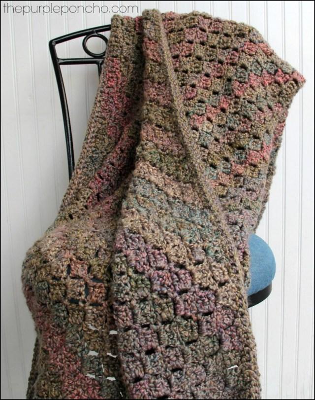 Crochet Corner-to-Corner Throw with Rope Edging - Free