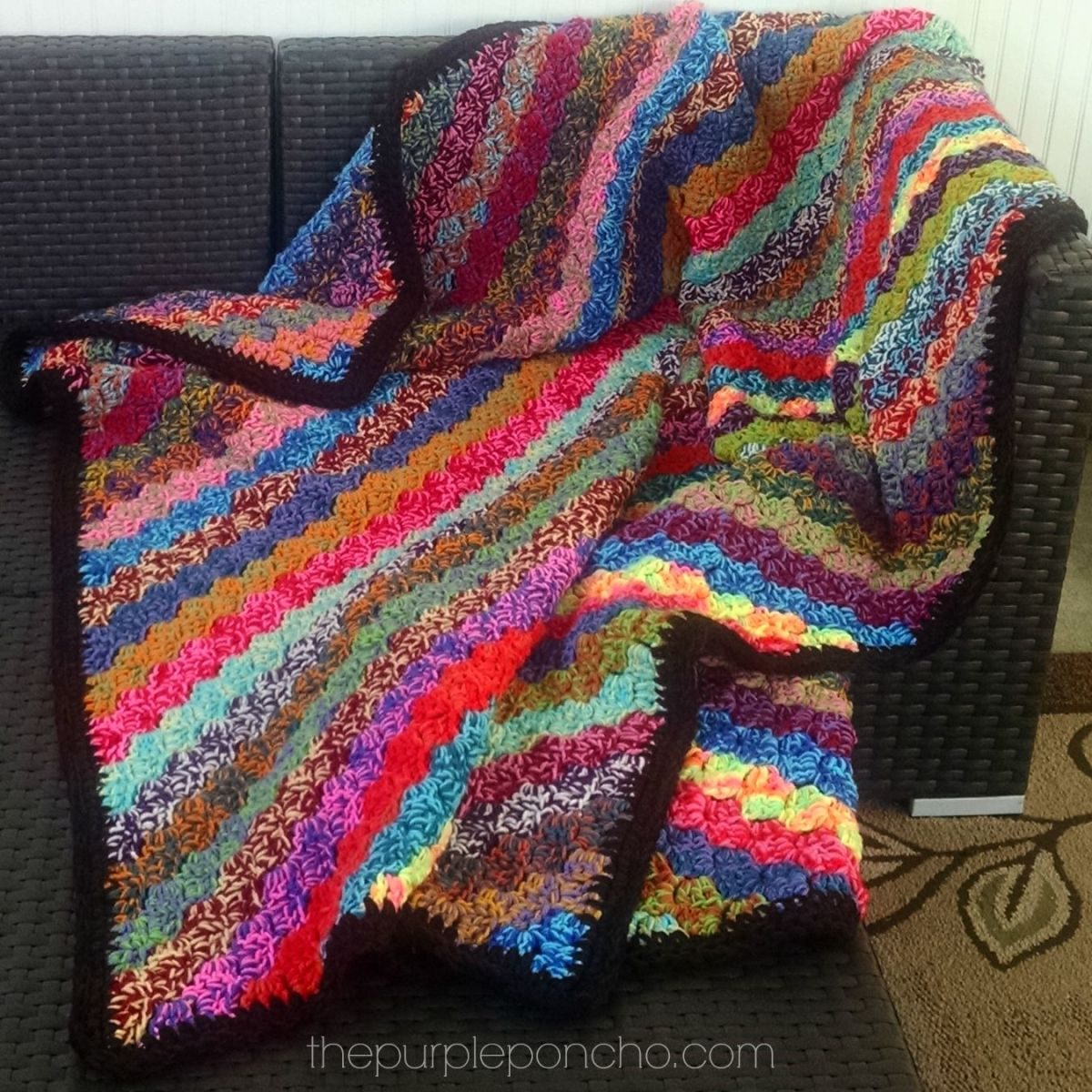 Crochet Corner-to-Corner Scrap Yarn Blanket – Free Pattern – The ...
