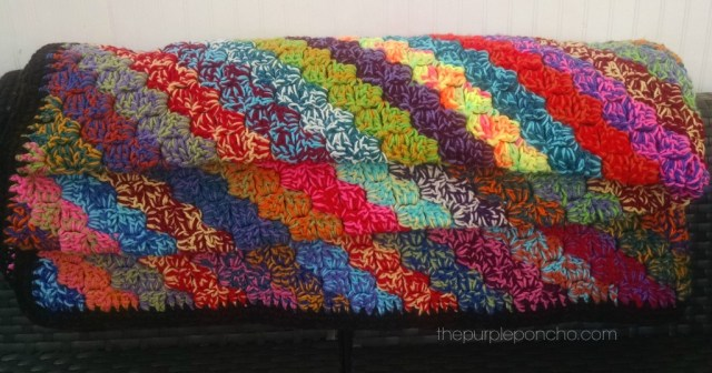 Crochet Corner To Corner Scrap Yarn Blanket Free Pattern The