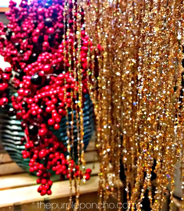 Christmas Berries and Gold by The Purple Poncho