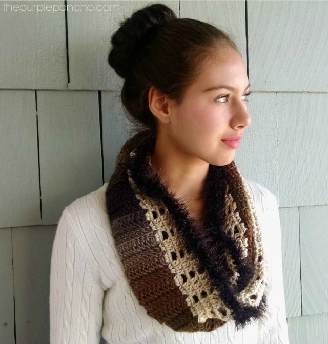 Autumn Lace Infinity Scarf Crochet Pattern The Purple Poncho