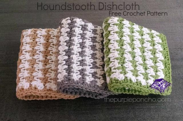 Houndstooth Dishcloth Crochet Pattern by Carolyn Calderon