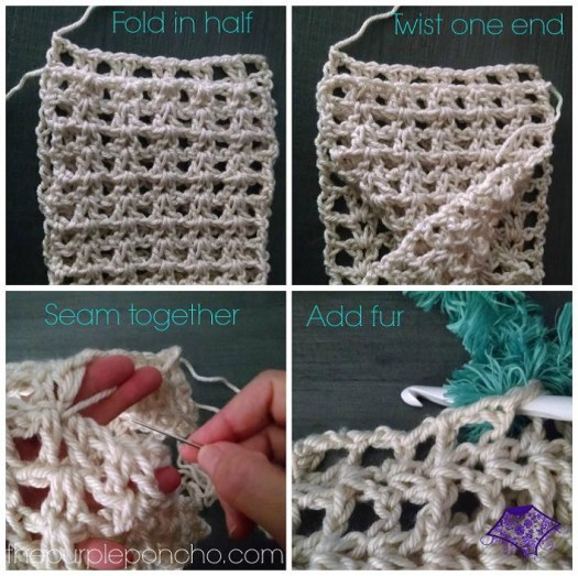 Seamist Infinity Scarf Free Crochet Pattern The Purple Poncho
