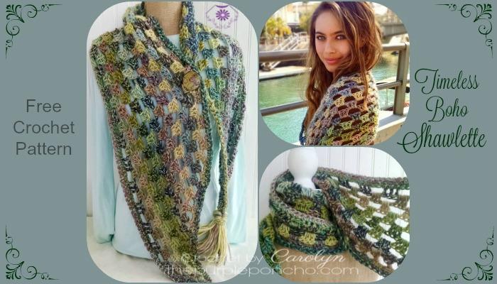 Timeless Boho Shawlette - Free Crochet Pattern