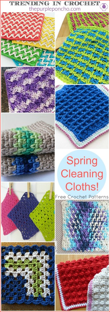 Trending In Crochet Spring Cleaning Cloths The Purple Poncho