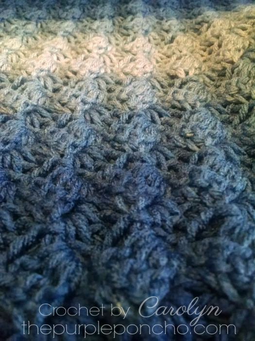 Corner To Corner Ombre Throw Free Crochet Pattern The Purple Poncho