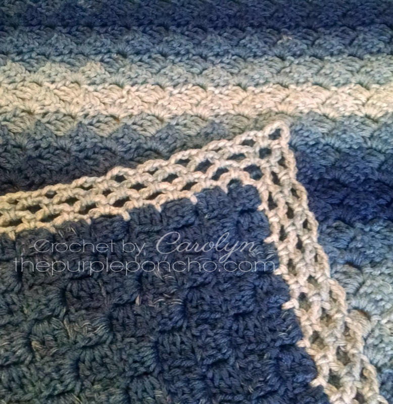 Corner-To-Corner Ombre Throw - Free Crochet Pattern - The Purple Poncho