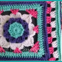 Flower Granny Square - Free Crochet Pattern