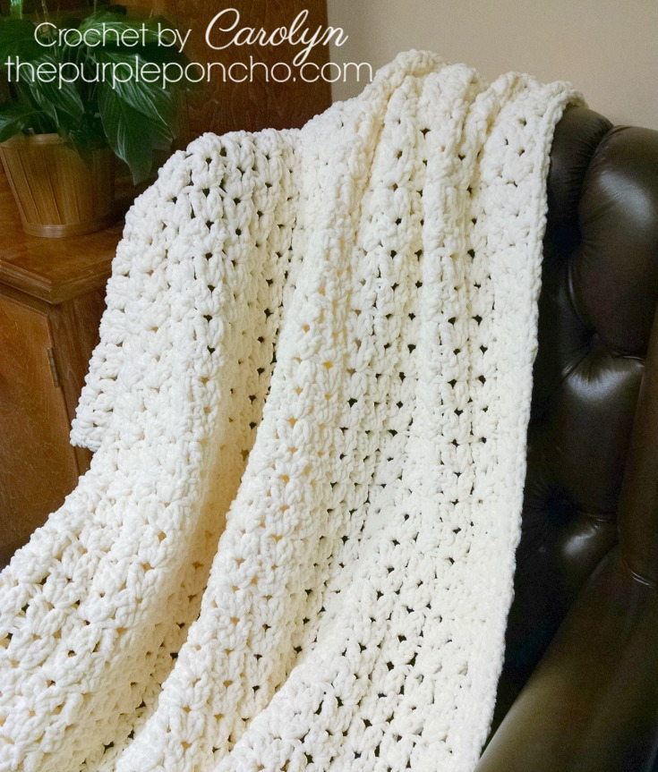 Simple Vintage Blanket Free Crochet Pattern The Purple Poncho