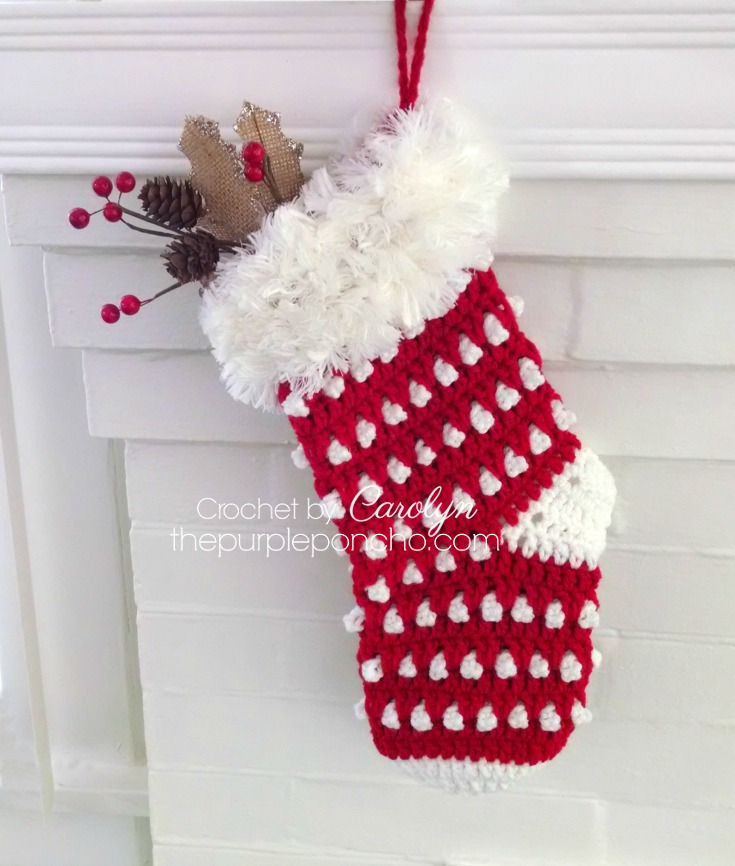 Holly Berry Stocking - Free Crochet Pattern