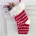 Holly Berry Stocking – Free Crochet Pattern