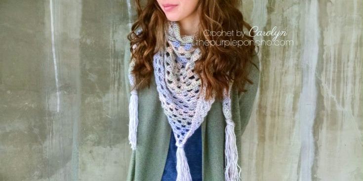 Boho Triangle Scarf - Free Crochet Pattern