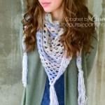 Boho Triangle Scarf – Free Crochet Pattern