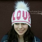 Free Crochet Pattern: Cross Stitch Love Beanie