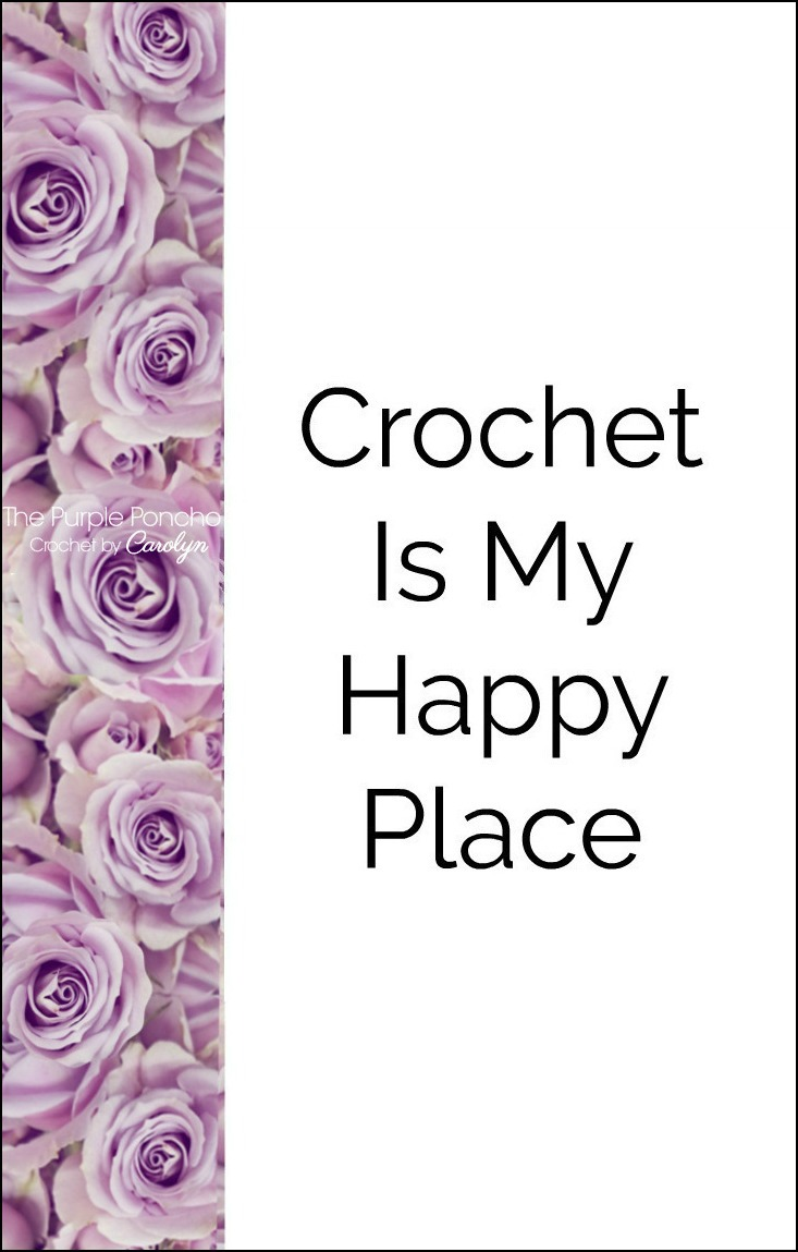 Ideal Crochet Is My Happy Place – The Purple Poncho SF41