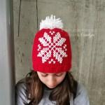 Cross Stitch Snowflake Beanie A Free Crochet Pattern