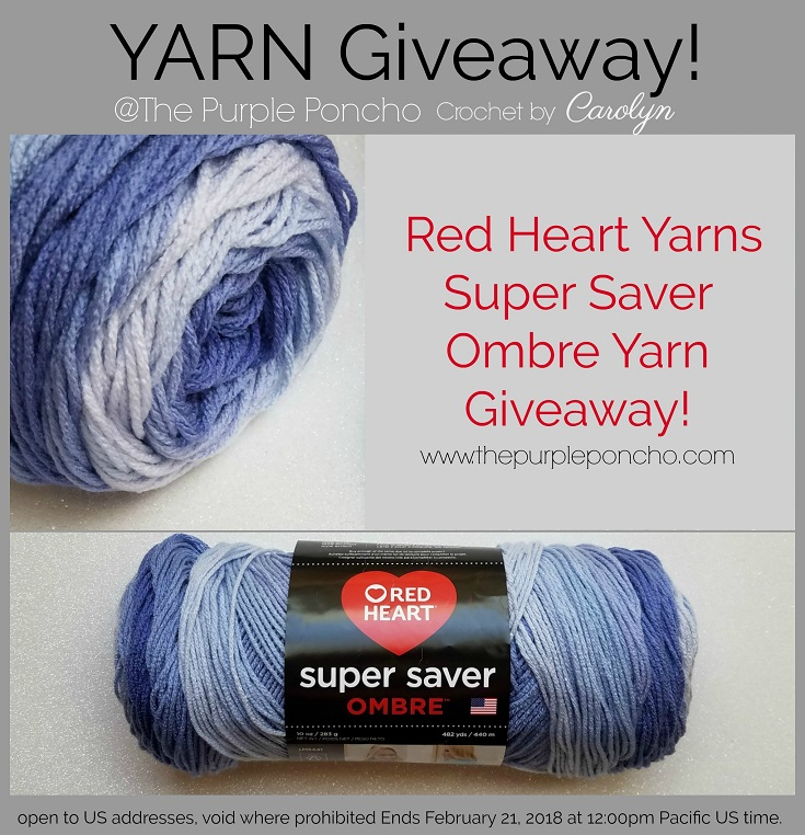 Giveaway Red Heart Yarns The Purple Poncho