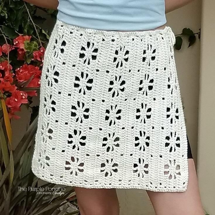 Blossom Skirt Crochet Pattern The Purple Poncho