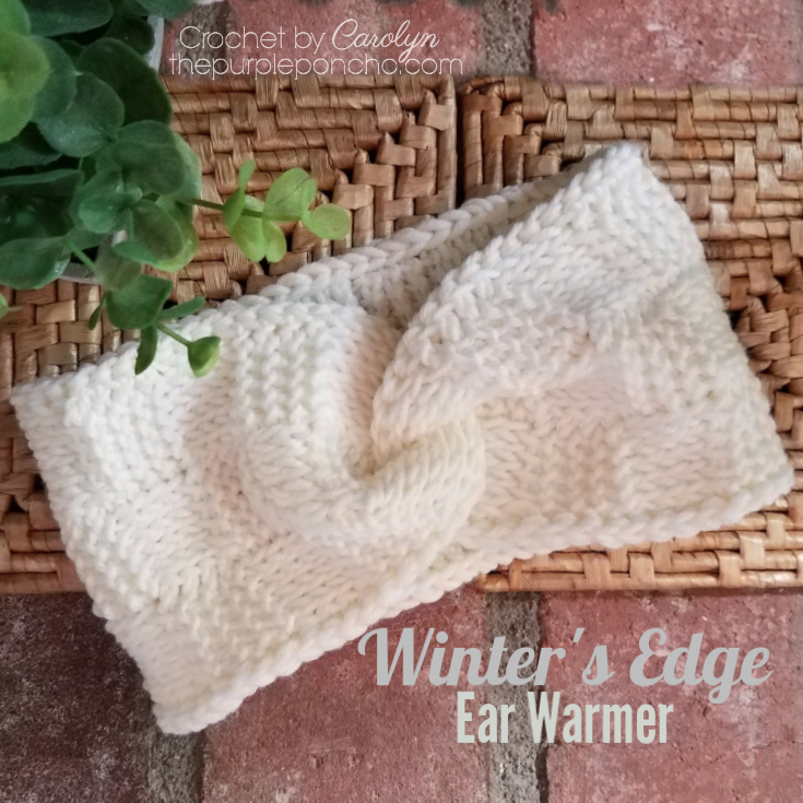 Winter's Edge Ear Warmer by Carolyn @ Purple Poncho