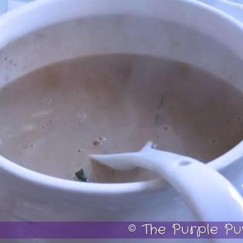 Chestnut & Sage Soup with Garlic Herb Crostini