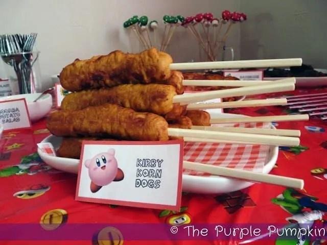 Kirby Korn Dogs - Nintendo Party