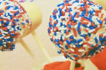 Red White & Blue Cake Pops