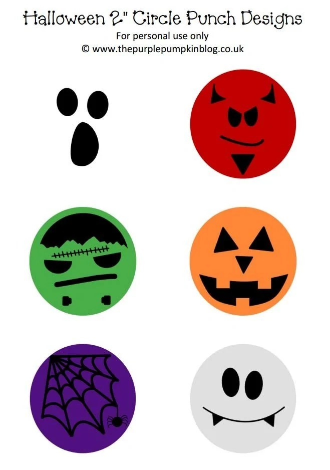 Halloween Circle Punch Designs
