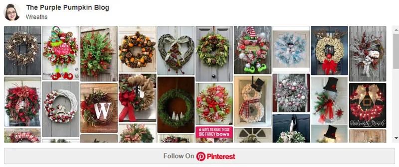 Christmas Wreaths Board on Pinterest