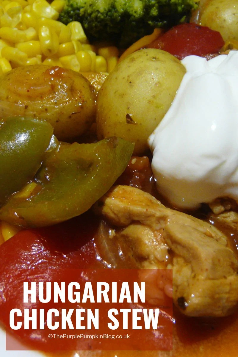 This Hungarian Chicken Stew is a family favourite! Serve with a chunk of crusty bread for some real good comfort food on cold winter nights! #ChickenStew #HungarianRecipes #ComfortFood
