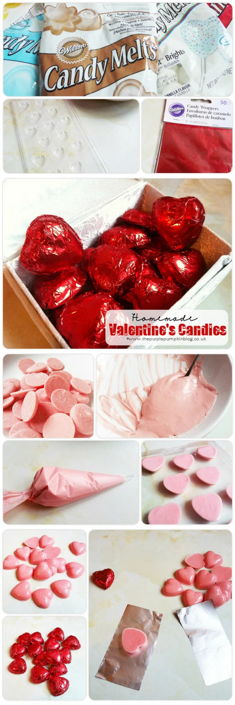 Homemade Valentines Candies - these candies are really quick and easy to make, and a sweet last minute gift for your Valentine!