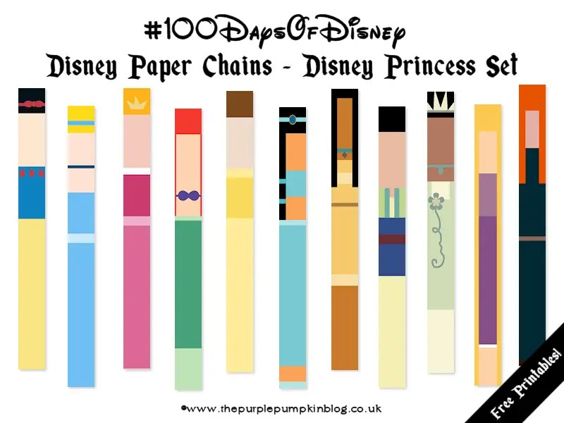 Disney Paper Chains - Disney Princess Set
