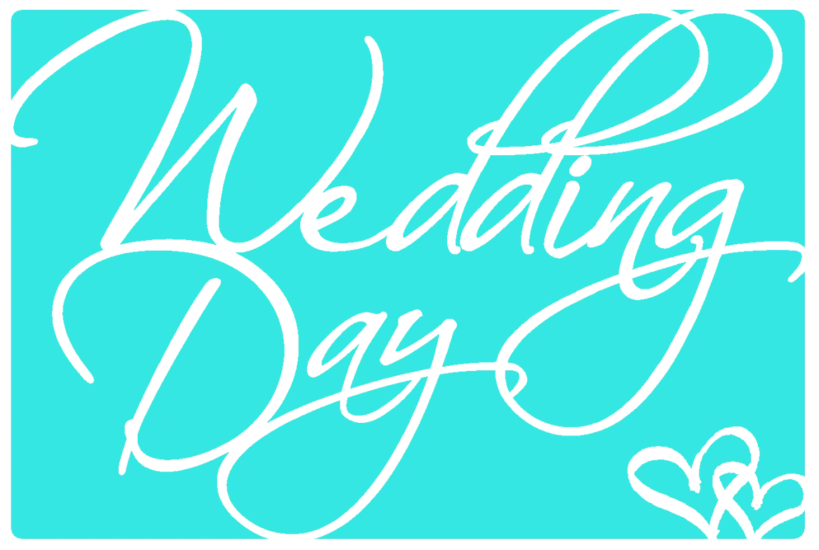 Wedding Day Card PNG File for Cricut Explore