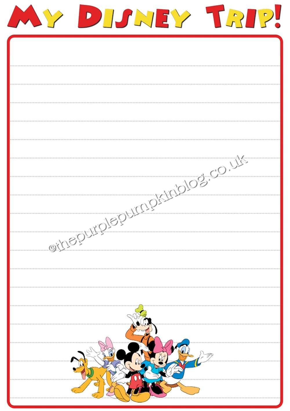 My Disney Trip Report For Kids - Free Printables