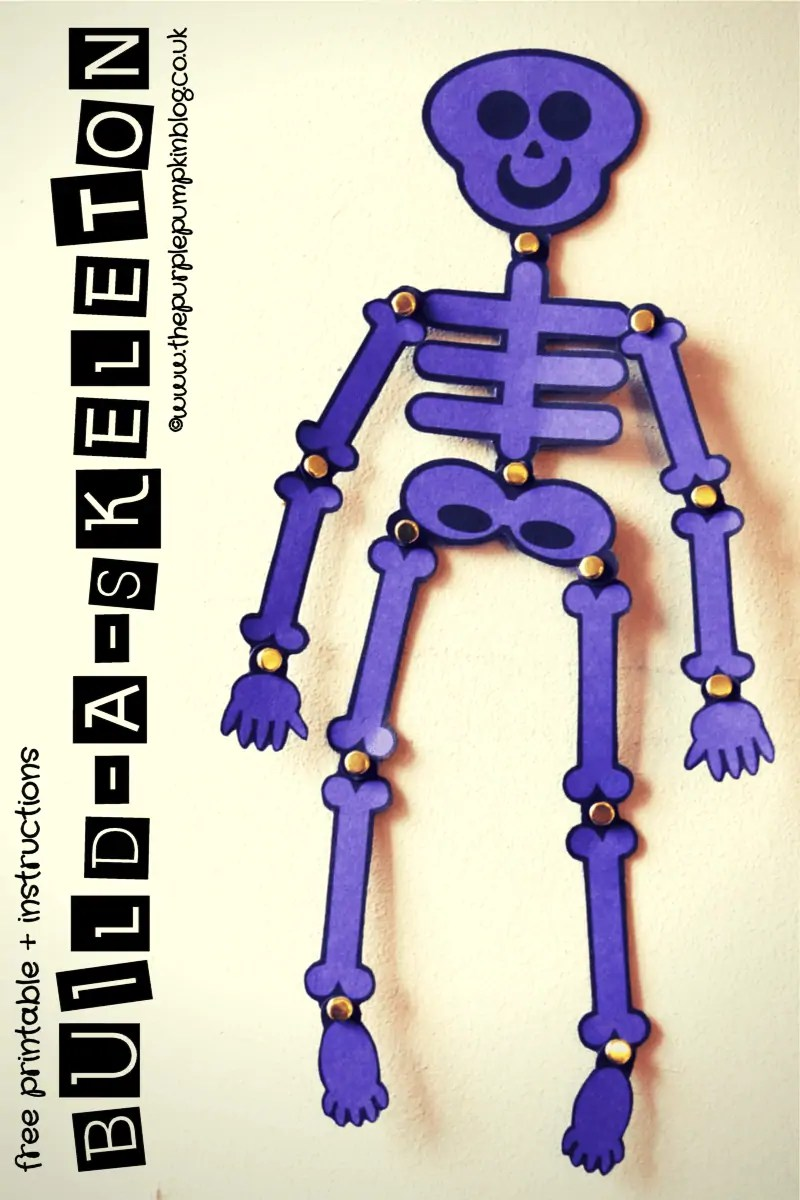 Build-A-Skeleton Free Printable + Instructions
