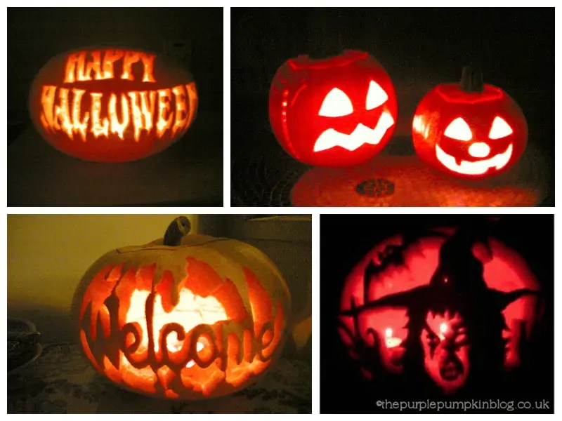Pumpkin Carvings 2004 and 2005