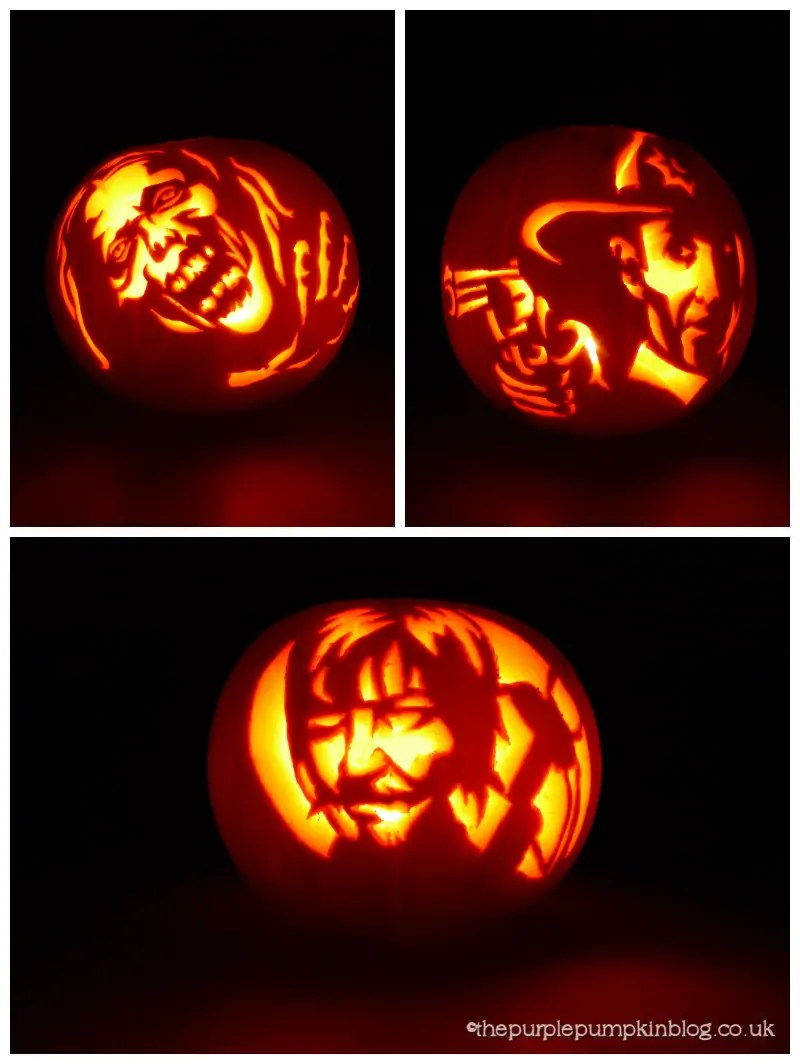 The Walking Dead Pumpkin Carvings
