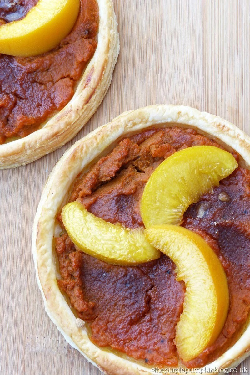 Pumpkin and Peach Puff Pastry Tarts